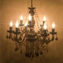 ライトスタンド   取付簡単♪豪華でアンティーク調☆シャンデリア9灯♪Chateau (シャトー)♪
